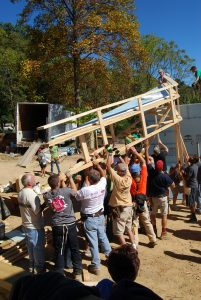 Volunteers & Homeowners Build Together
