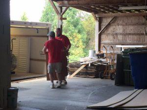 Josh and Paul Unloading