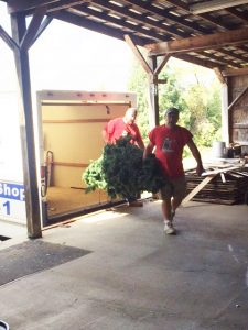 Unloading Truck Josh & Paul